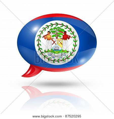 Belize Flag Speech Bubble