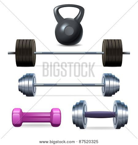 Dumbbells Barbells And Weight