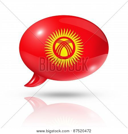 Kyrgyzstan Flag Speech Bubble