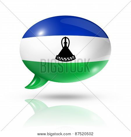 Lesotho Flag Speech Bubble