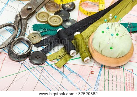 Sewing Supply On Pattern Cutting