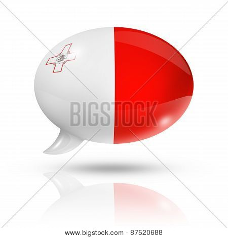 Malta Flag Speech Bubble