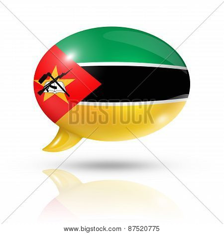 Mozambique Flag Speech Bubble