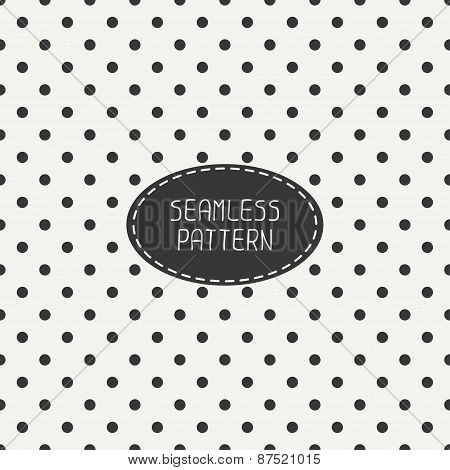 Geometric seamless polka dot pattern with circles. Wrapping paper. Paper for scrapbook. Tiling. Peas