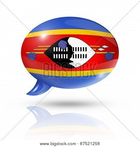 Swaziland Flag Speech Bubble