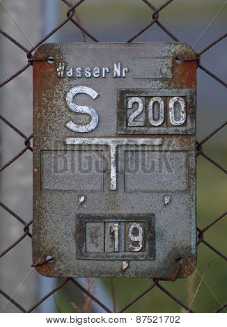Historical Gray Gate Valve Sign