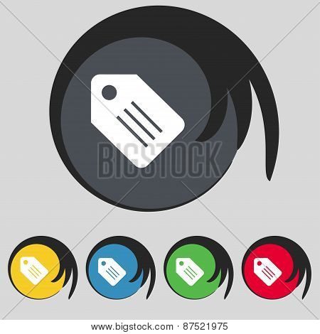 Special Offer Label Icon Sign. Symbol On Five Colored Buttons. Vector