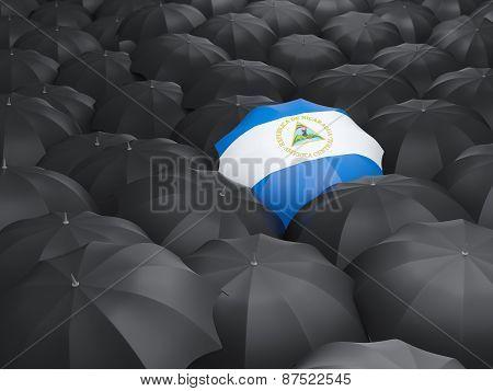 Umbrella With Flag Of Nicaragua