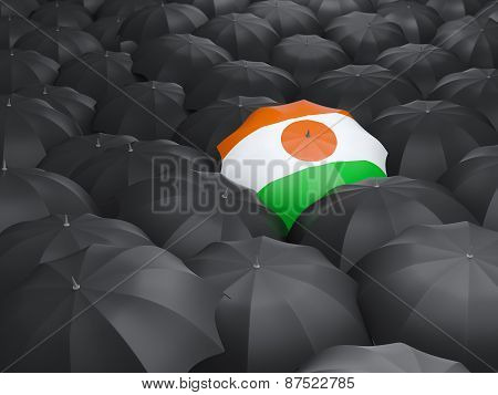 Umbrella With Flag Of Niger