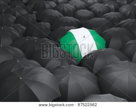 Umbrella With Flag Of Nigeria