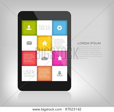 colorful design for mobile devices