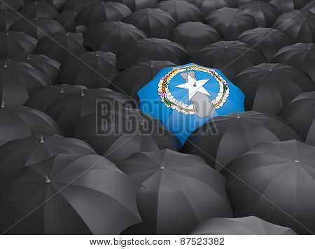 Umbrella With Flag Of Northern Mariana Islands