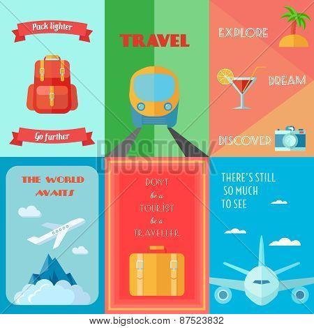 Travel Poster Set