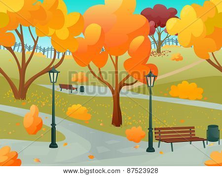 Autumn Park Landscape