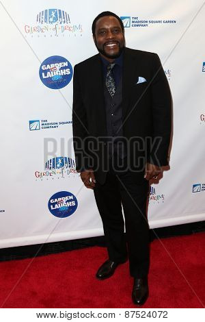 NEW YORK-MAR 28: Actor Chad Coleman attends the 2015 Garden Of Laughs Comedy Benefit at the Club Bar and Grill at Madison Square Garden on March 28, 2015 in New York City.