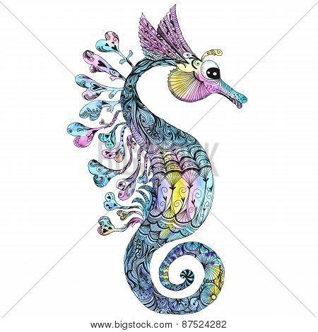 Creative Watercolor Seahorse