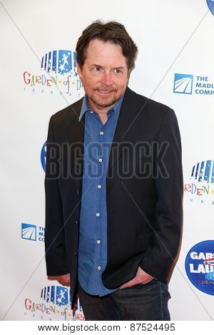 NEW YORK-MAR 28: Actor Michael J. Fox attends the 2015 Garden Of Laughs Comedy Benefit at the Club Bar and Grill at Madison Square Garden on March 28, 2015 in New York City.