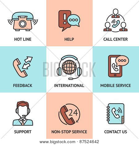 Call Center Design Concept Set