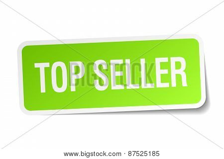Top Seller Green Square Sticker On White Background
