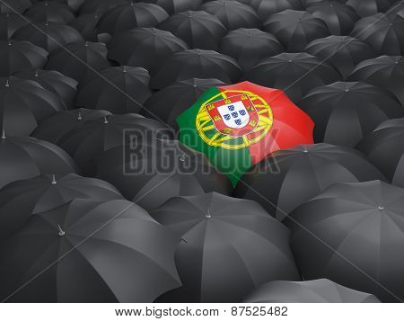 Umbrella With Flag Of Portugal
