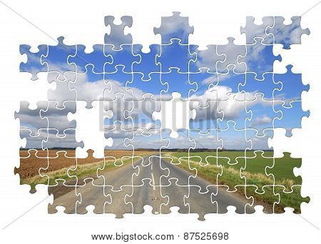 Yorkshire Country Road Jigsaw