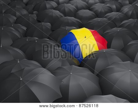 Umbrella With Flag Of Romania