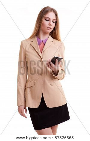 Young Businesswoman Talking To The Phone