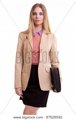 Business Person With Folder In Hand