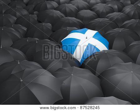 Umbrella With Flag Of Scotland
