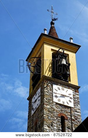 Jerago Old Abstract In   Wall  And Church  Bell Sunny Day