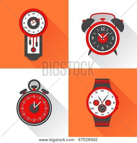 Clock Flat Set