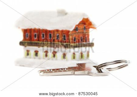 House And Key Isolated