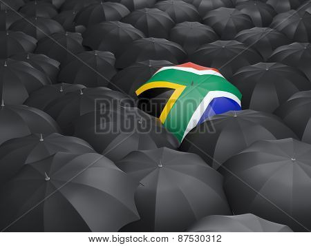 Umbrella With Flag Of South Africa