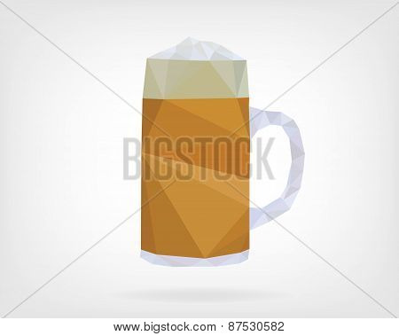 Low Poly Traditional Beer Mug