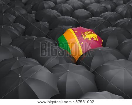 Umbrella With Flag Of Sri Lanka