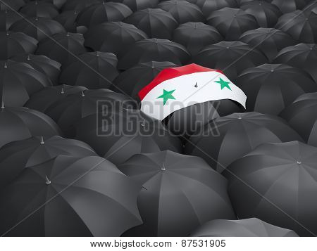 Umbrella With Flag Of Syria