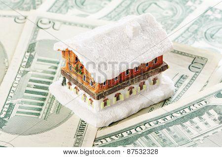 House On Background Of Money