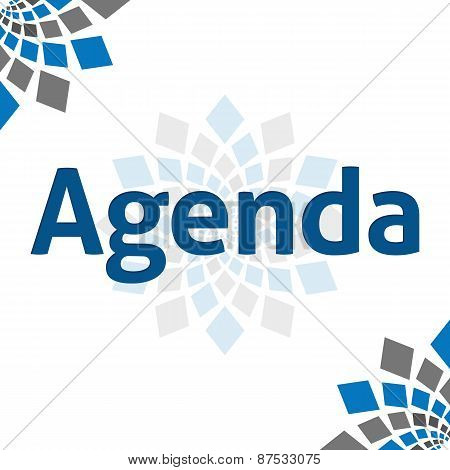 Agenda Blue Grey Square Elements Square