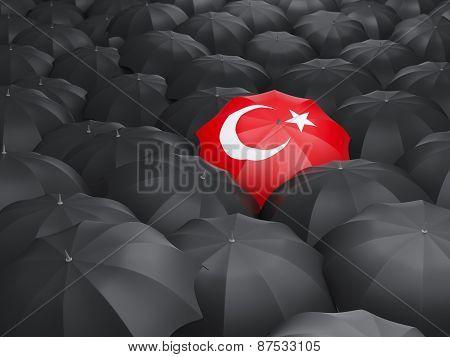 Umbrella With Flag Of Turkey