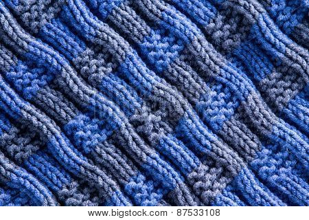 Homemade Woven Crochet With Diagonal Ridge Lines