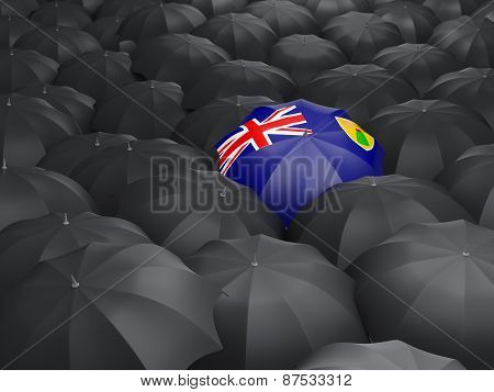 Umbrella With Flag Of Turks And Caicos Islands