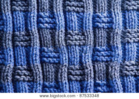 Homemade Woven Crochet With Vertical Ridge Lines