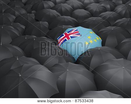 Umbrella With Flag Of Tuvalu