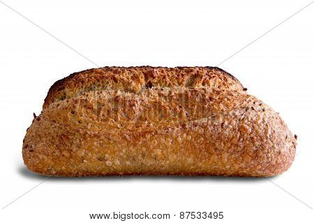 Tasty Rye Bread Isolated On White Background