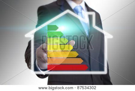Businessman Ecohouse Concept