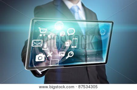 Businessman Using Tablet
