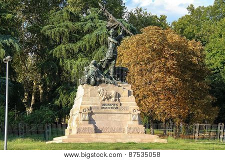 Monument To August 8, 1848 (monumento Ai Caduti Del Viii Agosto 1848) In The Park Montagnola. Bologn