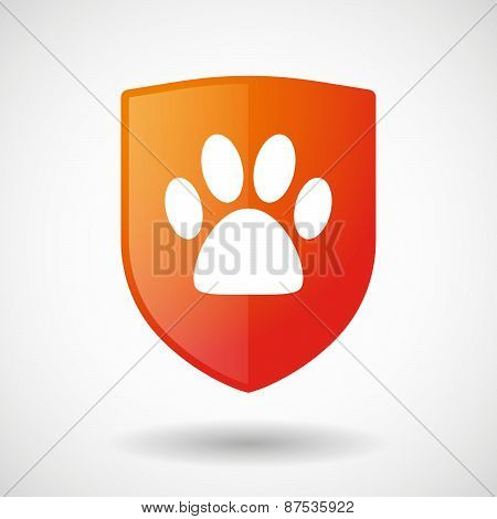 Shield Icon With An Animal Footprint
