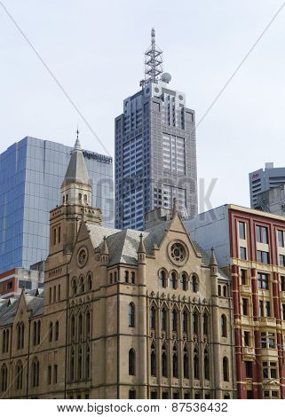 Old and new architecture in Melbourne