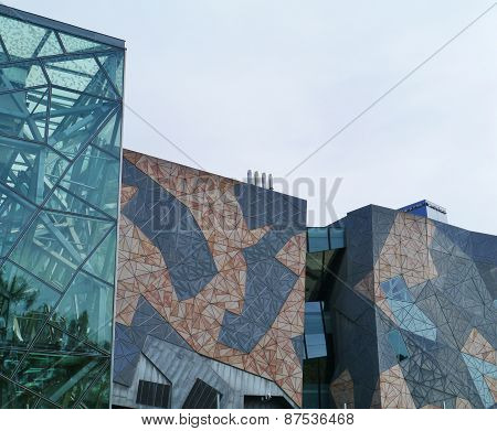 Sandstone frames and glass